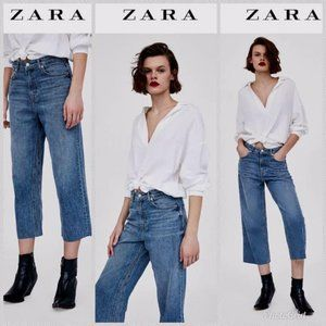 Brand New Zara Culottes Cropped Jeans